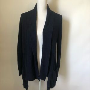 Express blue open front cardigan womens medium